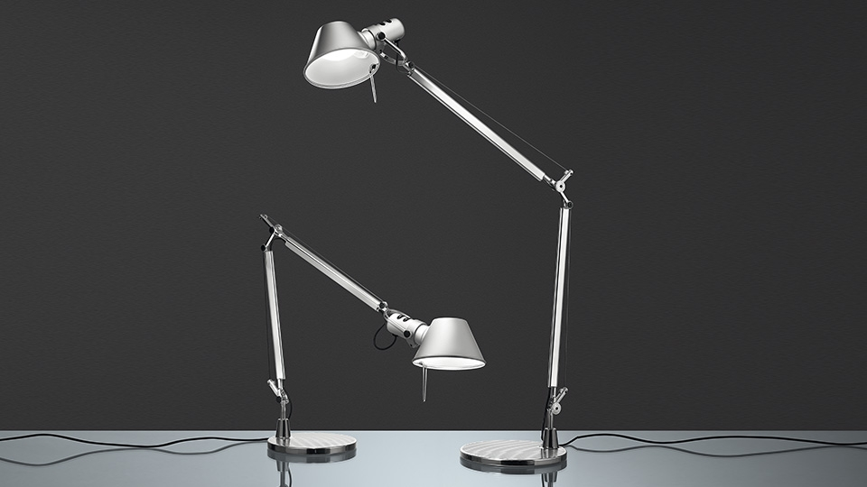 artemide tolomeo mini bordlampe bordlamper lystorvet. Black Bedroom Furniture Sets. Home Design Ideas